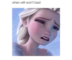 frozen, h, and sad image
