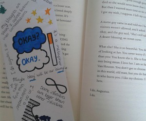 books, doodles, and drawing image