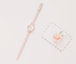 flower, pink, and watch image