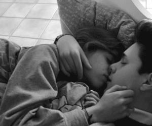 boy, girl, and kiss image