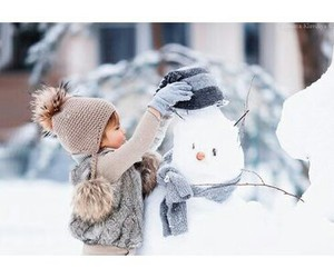 baby, christmas, and snow image