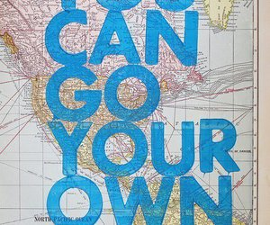 america, map, and go your own way image