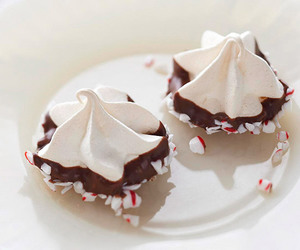 chocolate, meringue, and christmas image
