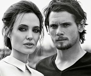 Angelina Jolie, movie, and black and white image