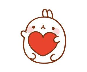 heart, rabbit, and molang image