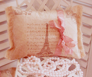 paris, pink, and pillow image