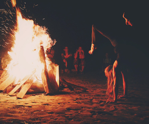 camp, fire, and grunge image