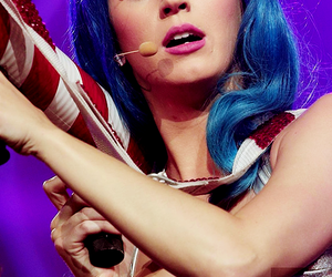 blue hair, katy perry, and katycats image