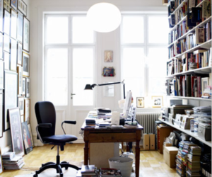 book, office, and books image
