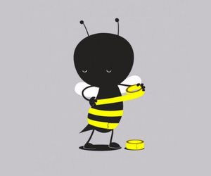 bee, black, and funny image
