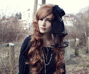 gothic, hair, and Piercings image