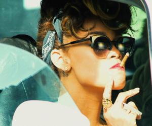 rihanna, smoke, and smoking image