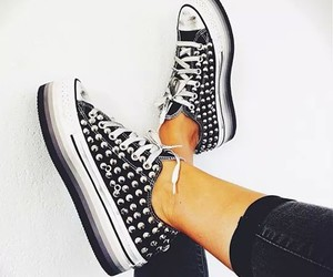 black, pants, and shoes image
