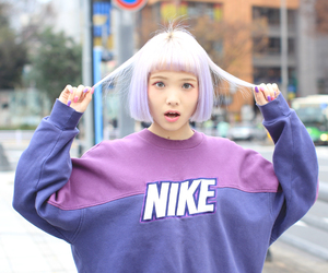 nike, japan, and hair image