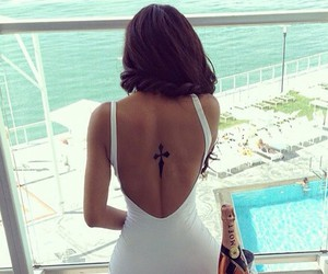 girl, tattoo, and moet image