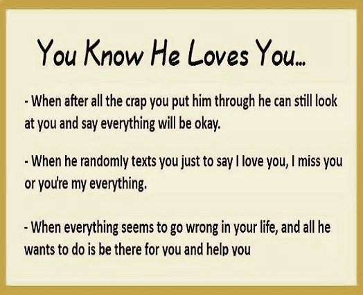 Signs to know that he loves you