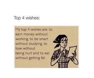 wish, money, and fat image