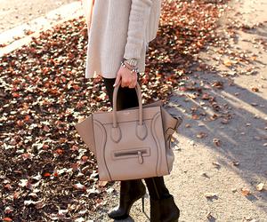 fashion, bag, and autumn image
