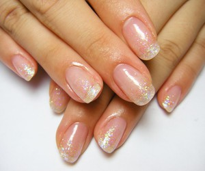 clear, nail art, and silver image