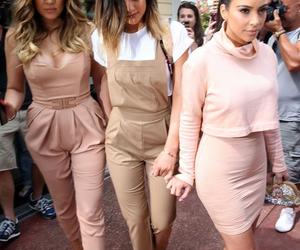 kylie jenner, kim kardashian, and khloe kardashian image
