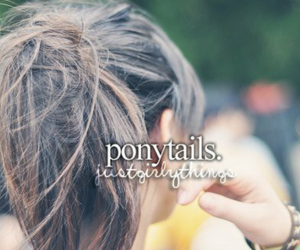 ponytail, hair, and just girly things image