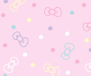 pink, background, and kitty image