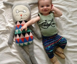 baby, fashion, and happy image