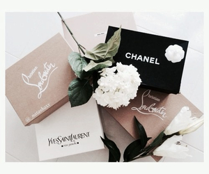 chanel, fashion, and flowers image