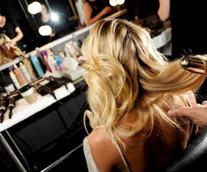hair, blonde, and model image