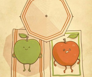 apple, funny, and sun image