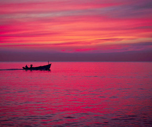 boat, india, and ocean image