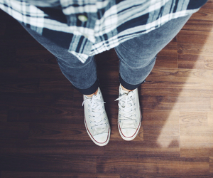 converse, fashion, and flannel image