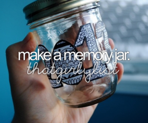memories, jar, and bucketlist image