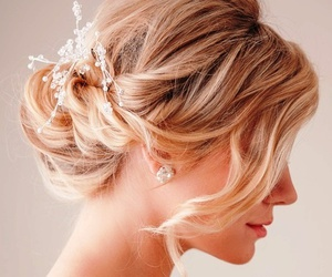 bridal, white, and hair image