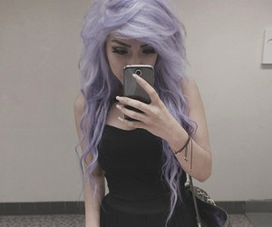 hair, pretty, and black image