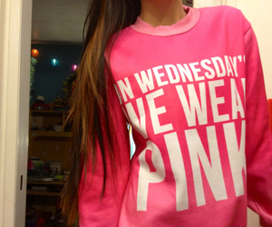 pink, girly, and mean girls image