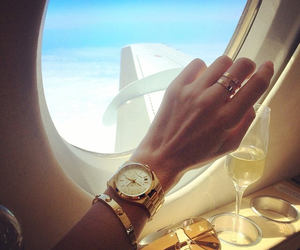 luxury, watch, and champagne image
