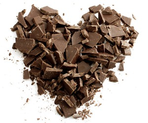 sweet, chocolate heart, and cute image
