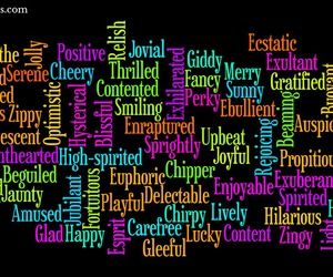 positive words, positivesaurus, and happy words image