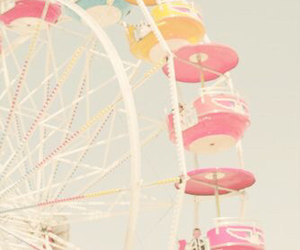 fair, ferriswheel, and pink image