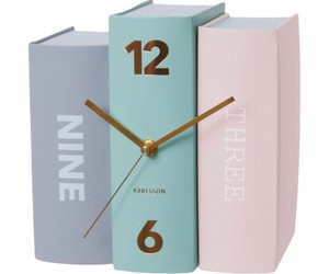 clock, desk accessories, and college image