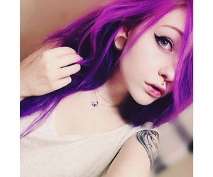 alt girl, dyed hair, and ericaelly image