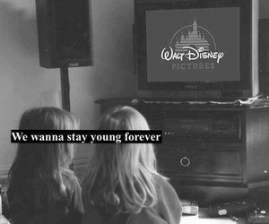black and white, disney, and forever image