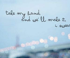 quote, love, and hand image