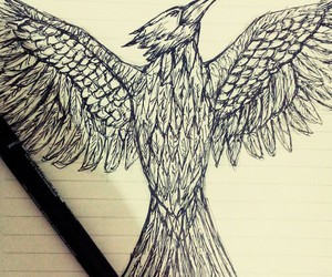 art, draw, and mockingjay image