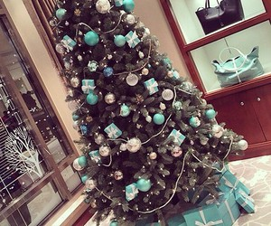 blue, christmas, and gifts image
