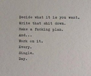 black and white, plan, and quotes image