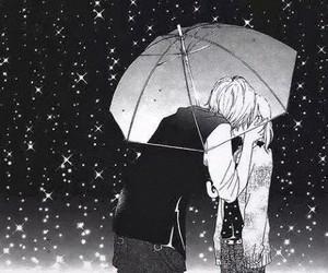 anime, rain, and cute image