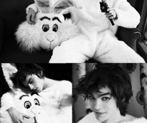 nicholas hoult, black and white, and skins image