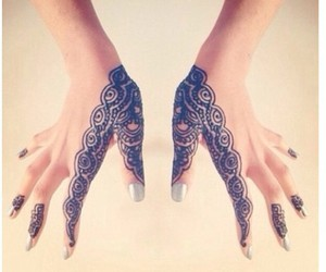 cute, hands, and henna image